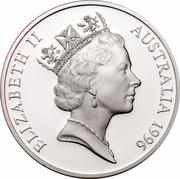 Australia 5 Dollars National Identity - Tom Roberts 1996 KM# 331 ELIZABETH II AUSTRALIA 1996 RDM coin obverse