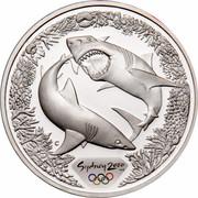 Australia 5 Dollars Olympic Sharks 2000 KM# 372 SYDNEY 2000 ™© C coin reverse