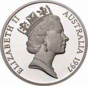 Australia 5 Dollars Opening of a Continent 1997 KM# 548 ELIZABETH II AUSTRALIA 1997 RDM coin obverse