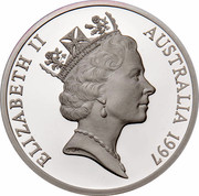 Australia 5 Dollars Opening of a Continent 1997 KM# 547 ELIZABETH II AUSTRALIA 1997 RDM coin obverse
