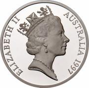 Australia 5 Dollars Opening of a Continent 1997 KM# 544 ELIZABETH II AUSTRALIA 1997 RDM coin obverse