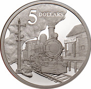 Australia 5 Dollars Opening of a Continent 1997 KM# 546 5 DOLLARS HILL TOP WP coin reverse