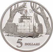 Australia 5 Dollars Opening of a Continent 1997 KM# 545 5 DOLLARS WP coin reverse