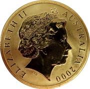 Australia 5 Dollars Paralympic Wheelchair Athlete 2000 KM# 517 ELIZABETH II AUSTRALIA 2000 IRB coin obverse