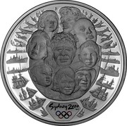 Australia 5 Dollars Races 2000 KM# 380 SYDNEY 2000 ™© P coin reverse