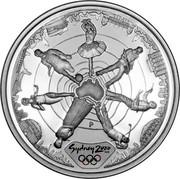 Australia 5 Dollars Reaching the World 2000 KM# 441 SYDNEY 2000 ™© P coin reverse