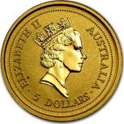 Australia 5 Dollars The Australian Nugget 1997 KM# 338 ELIZABETH II AUSTRALIA ∙ 5 DOLLARS ∙ RDM coin obverse