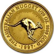 Australia 5 Dollars The Australian Nugget 1997 KM# 338 THE AUSTRALIAN NUGGET 1/20 OZ. 9999 GOLD ∙ 1997 ∙ coin reverse