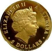 Australia 5 Dollars The Australian Nugget 1999 KM# 448 ELIZABETH II AUSTRALIA 5 DOLLARS IRB coin obverse