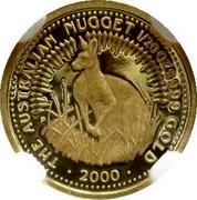 Australia 5 Dollars The Australian Nugget 1999 KM# 448 THE AUSTRALIAN NUGGET 1/20 OZ. 9999 GOLD *YEAR* coin reverse
