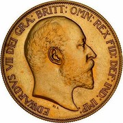 Australia 5 Pounds Coronation 1902 Proof KM# 17 EDWARDVS VII D: G: BRITT: OMN: REX F: D: IND: IMP: DES. coin obverse