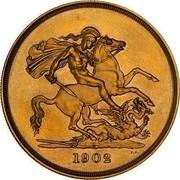 Australia 5 Pounds Coronation 1902 Proof KM# 17 S S B.P. 1902 coin reverse