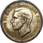 Australia 5 Shillings (1 Crown) Coronation of King George VI 1938 KM# 34 GEORGIVS VI D:G:BR:OMN:REX F:D:IND:IMP. HP coin obverse