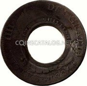 Australia 5 Shillings (1 Crown) Holey Dollar 1813 KM# 2.9 DEI GRATIA 1796 CAROLUS IIII FIVE SHILLINGS coin obverse