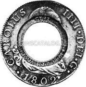 Australia 5 Shillings (1 Crown) Holey Dollar 1813 KM# 2.15 NEW SOUTH WALES 1813 coin obverse