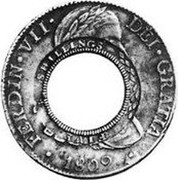 Australia 5 Shillings (1 Crown) Holey Dollar 1813 KM# 2.10 HISPAN ET IND REX 8R T H NEW SOUTH WALES 1813 coin obverse