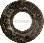 Australia 5 Shillings (1 Crown) Holey Dollar 1813 KM# 2.11 DEI GRATIA 1786 CAROLUS III FIVE SHILLINGS coin reverse