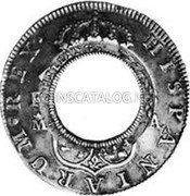 Australia 5 Shillings (1 Crown) Holey Dollar 1813 KM# 2.15 FIVE SHILLINGS coin reverse