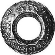 Australia 5 Shillings (1 Crown) Holey Dollar 1813 KM# 2.10 DEI GRATIA FERDND VII 1809 FIVE SHILLINGS coin reverse