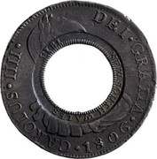 Australia 5 Shillings Holey Dollar 1813 KM# 2.13 HISPAN ET IND REX 8R P I NEW SOUTH WALES coin obverse