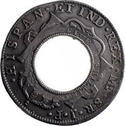 Australia 5 Shillings Holey Dollar 1813 KM# 2.13 DEI GRATIA 1804 CAROLUS IIII FIVE SHILLINGS coin reverse