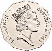 Australia 50 Cents (Bass & Flinders) KM# 364 ELIZABETH II AUSTRALIA 1998 RDM coin obverse
