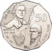 Australia 50 Cents (Bass & Flinders) KM# 364 GEORGE BASS MATTHEW FLINDERS DISCOVERY OF BASS STRAIT 1798-1998 50 coin reverse
