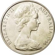 Australia 50 Cents Coat of Arms 1966 KM# 67 ELIZABETH II AUSTRALIA 1966 coin obverse
