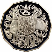 Australia 50 Cents Coat of Arms 1984 Proof KM# 68 50 SD coin reverse