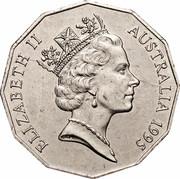 Australia 50 Cents (Edward Weary Dunlop) KM# 294 ELIZABETH II AUSTRALIA 1995 RDM coin obverse