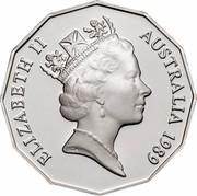 Australia 50 Cents Jubilee 1989 KM# 128 ELIZABETH II AUSTRALIA 1989 RDM coin obverse
