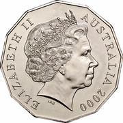 Australia 50 Cents (Millennium) KM# 488.1 ELIZABETH II AUSTRALIA 2000 IRB coin obverse