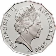 Australia 50 Cents Royal Visit 2000 KM# 437a ELIZABETH II AUSTRALIA 2000 G coin obverse