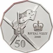 Australia 50 Cents Royal Visit 2000 KM# 437a ROYAL VISIT 2000 50 coin reverse