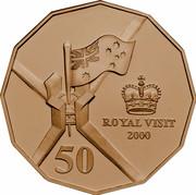 Australia 50 Cents Royal Visit 2000 KM# 437 ROYAL VISIT 2000 50 coin reverse