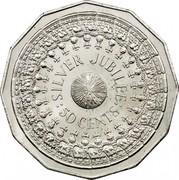 Australia 50 Cents Silver Jubilee 1977 KM# 70 :SILVER JUBILEE: 50 CENTS coin reverse