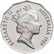 Australia 50 Cents XII Commonwealth Games - Brisbane 1989 Proof KM# 130 ELIZABETH II AUSTRALIA 1989 RDM coin obverse