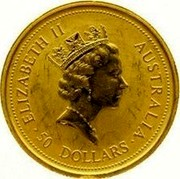 Australia 50 Dollars 1996 Proof KM# 275.2 Gold Bullion coins ELIZABETH II 50 DOLLARS AUSTRALIA coin obverse