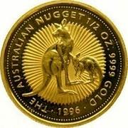 Australia 50 Dollars 1996 Proof KM# 275.2 Gold Bullion coins THE AUSTRALIAN NUGGET 1/2 OZ 9999 GOLD 1996 coin reverse