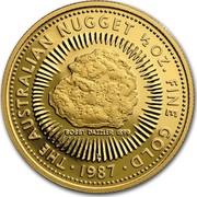 Australia 50 Dollars The Australian Nugget 1987 KM# 97 THE AUSTRALIAN NUGGET 1/2 OZ. FINE GOLD BOBBY DAZZLER 1899 P SD 1987 coin reverse