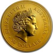 Australia 50 Dollars The Australian Nugget 1999 KM# 451 ELIZABETH II AUSTRALIA 50 DOLLARS IRB coin obverse