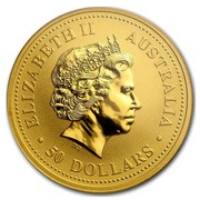 Australia 50 Dollars The Australian Nugget 2000 KM# 467 ELIZABETH II AUSTRALIA 50 DOLLARS IRB coin obverse