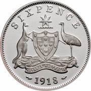 Australia Fifty Cents Coins of the 20th Century Memories - 1918 Sixpence 1999 KM# 484 SIXPENCE 1918 ADVANCE AUSTRALIA coin reverse