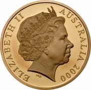 Australia Five Dollars Phar Lap 2000 KM# 510 ELIZABETH II AUSTRALIA 2000 IRB coin obverse