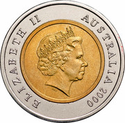 Australia Five Dollars Phar Lap 2000 KM# 478 ELIZABETH II AUSTRALIA 2000 IRB coin obverse