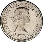 Australia Florin Coat of Arms 1956 (m) KM# 60 + ELIZABETH∙II∙DEI∙GRATIA∙REGINA∙F:D: coin obverse