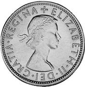 Australia Florin Elizabeth II 1954 KM# 54 + ELIZABETH∙II∙DEI∙GRATIA REGINA coin obverse