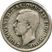 Australia Florin George VI 1946 KM# 40a GEORGIVS VI D:G:BR:OMN:REX F:D:IND:IMP. HP coin obverse