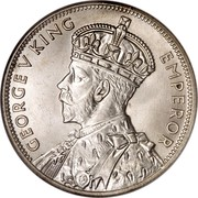 Australia Florin Victoria and Melbourne Centenary ND (1934-1935) Proof KM# 33 GEORGE V KING EMPEROR coin obverse