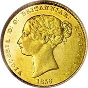 Australia Half Sovereign Victoria 1856 KM# 1 VICTORIA D:G: BRITANNIAR: REGINA F:D: *YEAR* coin obverse
